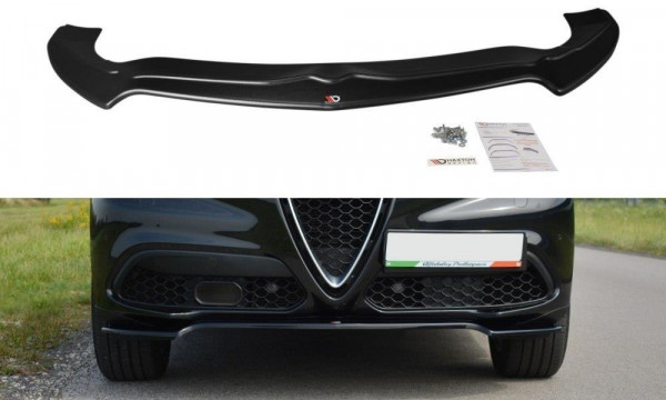 Front Ansatz Passend Für V.1 Alfa Romeo Stelvio Schwarz Matt