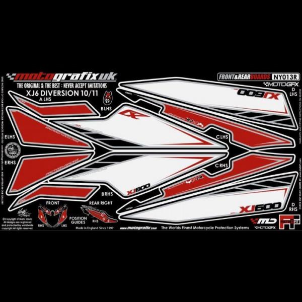 Motografix Steinschlagschutz Set Yamaha XJ6 DIVERSION 2010-2011 NY013R