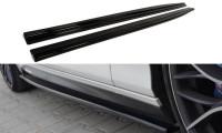 Seitenschweller Ansatz Passend Für BMW 1er F20/F21 M-Power Schwarz Matt