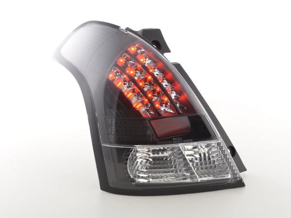 LED Rückleuchten Set Suzuki Swift Typ MZ Bj. 05- klar/schwarz