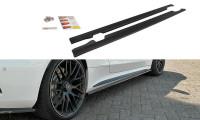 Seitenschweller Ansatz Passend Für Mercedes C-Klasse C205 63 AMG Coupe Schwarz Hochglanz