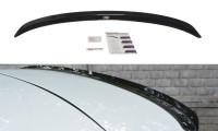Spoiler CAP Passend Für Renault Megane Mk4 Hatchback Schwarz Hochglanz