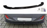 Mittlerer Diffusor Heck Ansatz Passend Für Hyundai I30 Mk.2 Schwarz Hochglanz