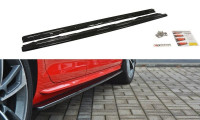Seitenschweller Ansatz Passend Für Audi S4 / A4 S-Line B9 Schwarz Matt