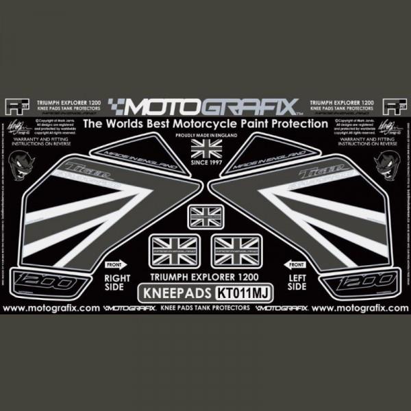 Motografix Tankschutz Knie Pads Triumph TIGER 1200 2012-2017 KT011MJ