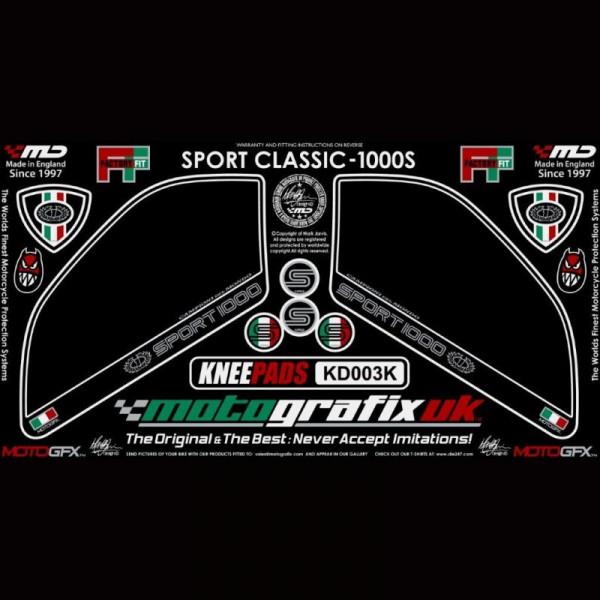 Motografix Tankschutz Knie Pads Ducati Sport Classic 1000 / S KD003K