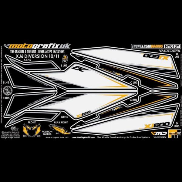 Motografix Steinschlagschutz Set Yamaha XJ6 DIVERSION 2010-2011 NY013Y