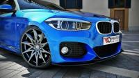 Front Ansatz V.1 Für BMW 1er F20/F21 M-Power FACELIFT Schwarz Hochglanz