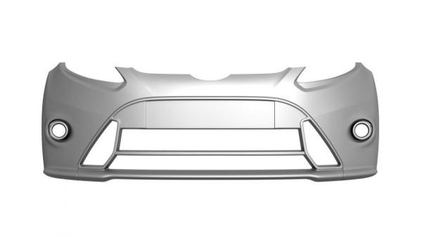 Frontstoßstange Passend Für FORD FIESTA MK7 (FOCUS RS LOOK) Mit Nebelscheinwerfer Schwarz Hochglanz