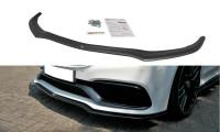 Front Ansatz Passend Für V.1 Mercedes C-Klasse C205 63 AMG Coupe Schwarz Matt