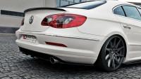 Heck Ansatz Flaps Diffusor Für VW Passat CC R36 RLINE (vor Facelift) Schwarz Hochglanz