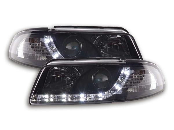 Scheinwerfer Set Daylight LED TFL-Optik Audi A4 Typ B5 99-01 schwarz