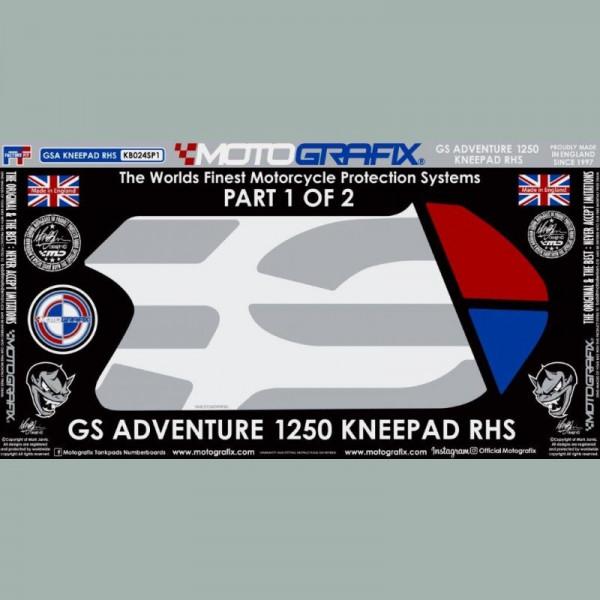 Motografix Tankschutz Knie Pads BMW R1250 GS Adventure 2018- KB024SP
