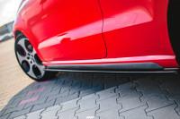 Seitenschweller Ansatz Für VOLKSWAGEN POLO MK5 GTI 6R Vor Facelift Schwarz Hochglanz