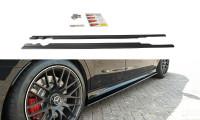 Seitenschweller Ansatz Passend Für Mercedes C-Klasse S205 63 AMG Kombi Schwarz Hochglanz