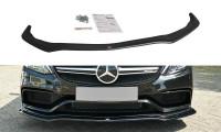 Front Ansatz Passend Für V.1 Mercedes C-Klasse S205 63 AMG Kombi Schwarz Matt