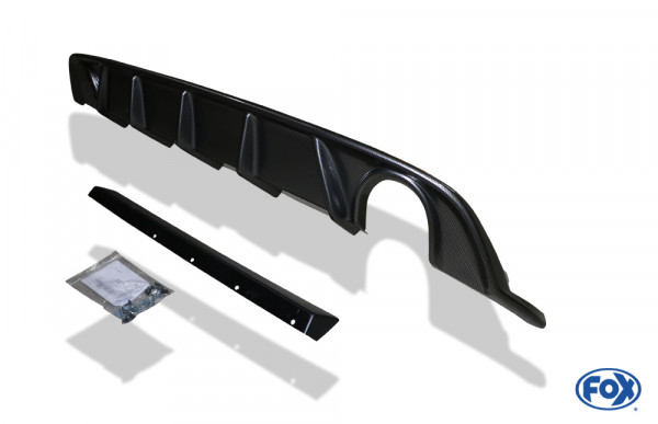 VW Golf VII Facelift Einzelradaufhängung - Einsatz carbon Endschalldämpfer rechts/links - 1x100 Typ