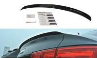 Spoiler CAP Passend Für Audi A4 S-Line B9 Limousine Schwarz Hochglanz