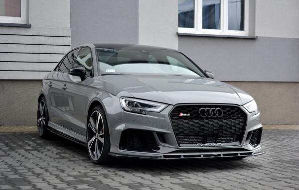 Front Ansatz V.1 Für Audi RS3 8V FL Sedan Schwarz Hochglanz
