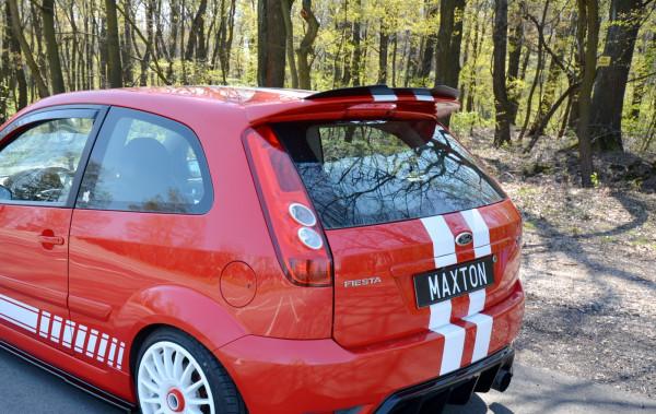 Spoiler CAP V.1 Für Ford Fiesta ST Mk6 Schwarz Hochglanz