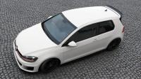 Spoiler CAP Für VW GOLF 7 GTI CLUBSPORT Schwarz Hochglanz