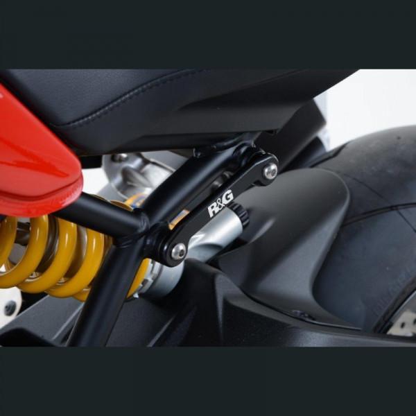 R&G hintere Fußrastenabdeckung Ducati Monster 1200 / Super Sport 2017-