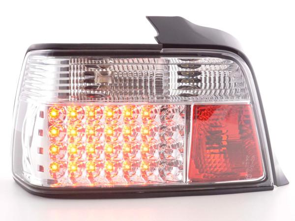 LED Rückleuchten Set BMW 3er Limousine Typ E36 Bj. 91-98 chrom