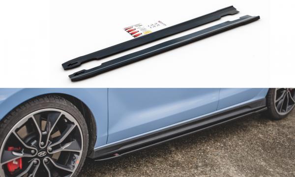 Seitenschweller Ansatz Passend Für V.4 Hyundai I30 N Mk3 Hatchback/ Fastback Schwarz Matt