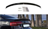 Spoiler CAP Passend Für Audi S8 D4 FL Schwarz Hochglanz