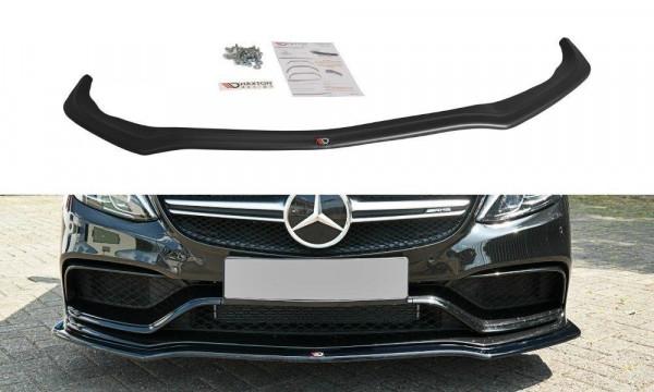 Front Ansatz Passend Für V.1 Mercedes C-Klasse S205 63 AMG Kombi Schwarz Hochglanz