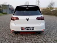 Heck Ansatz Flaps Diffusor Für VW GOLF Mk7 GTI CLUBSPORT Schwarz Hochglanz