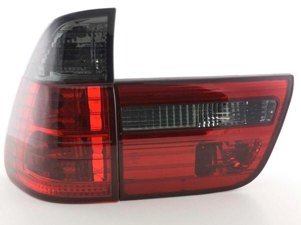 Rückleuchten Set BMW X5 Typ E53 X53 Bj. 98-03 schwarz/rot