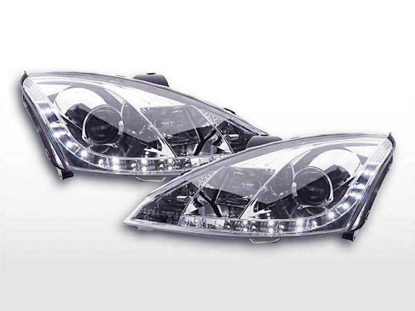 Scheinwerfer Set Daylight LED TFL-Optik Ford Focus 3/4/5-trg. 01-04 chrom