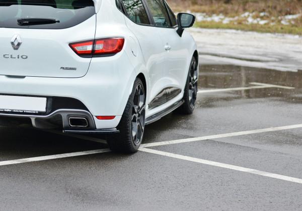 Seitenschweller Ansatz Für RENAULT CLIO MK4 RS Schwarz Hochglanz