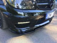 Front Ansatz Für Mercedes AMG C63 W204 FACELIFT Schwarz Hochglanz