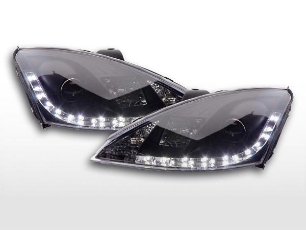 Scheinwerfer Set Daylight LED TFL-Optik Ford Focus 3/4/5-trg. 98-01 schwarz