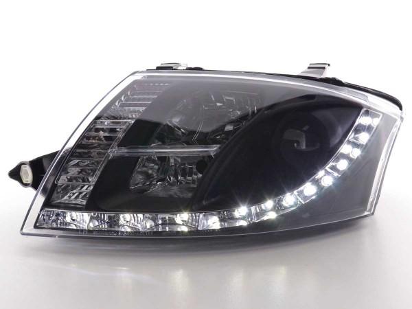 Scheinwerfer Set Daylight LED TFL-Optik Audi TT Typ 8N Bj. 99-06 schwarz