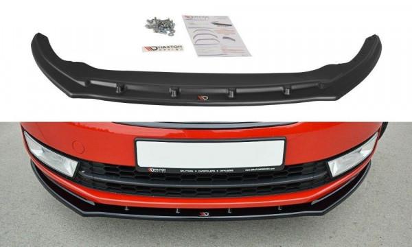 Front Ansatz Passend Für V.2 Skoda Rapid Carbon Look