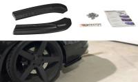 Heck Ansatz Flaps Diffusor Passend Für Audi S4 B8 FL Schwarz Hochglanz