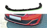 Front Ansatz Passend Für V.1 PEUGEOT 308 II GTI Carbon Look
