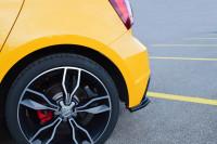 Heck Ansatz Flaps Diffusor Für Audi S1 8X Schwarz Hochglanz