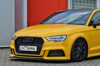Cup Frontspoilerlippe für Audi A3 S3 8V S-Line + Cabrio Facelift Ausführung: Matt schwarz