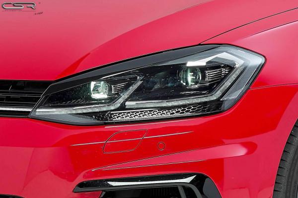 Scheinwerferblenden Glossy für VW Golf 7 SB191-G