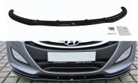 Front Ansatz Passend Für Hyundai I30 Mk.2 Schwarz Hochglanz