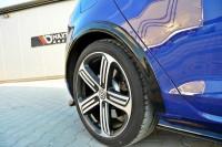 Kotflügel Verbreiterung Für VW GOLF 7 R Facelift Schwarz Hochglanz
