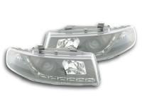 Scheinwerfer Set Daylight LED TFL-Optik Seat Leon Typ 1M 99-05 schwarz