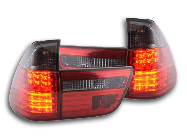 LED Rückleuchten Set BMW X5 Typ E53 Bj. 98-02 schwarz/rot