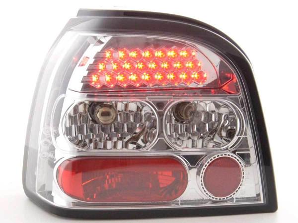 LED Rückleuchten Set VW Golf 3 Typ 1HXO 92-97 chrom