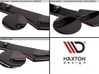 Front Ansatz Passend Für V.1 MAZDA 3 MK2 MPS Schwarz Matt