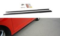 Seitenschweller Ansatz Passend Für Skoda Rapid Schwarz Matt